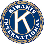 logo kiwanis seal gold blue